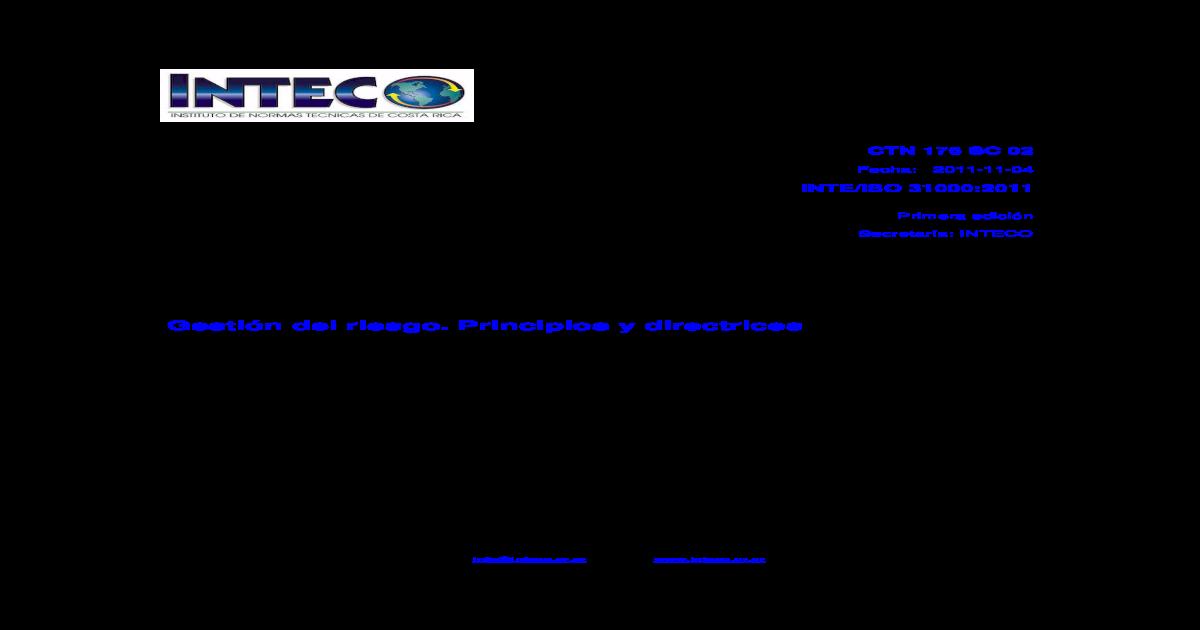 INTE ISO 31000-2011 - [PDF Document]